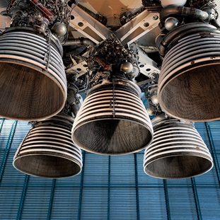 saturn v rocket engine and exhaust pipes