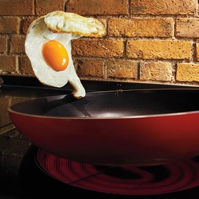 pan flipping egg